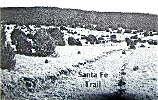 Existing ruts (swale) near Santa Fe